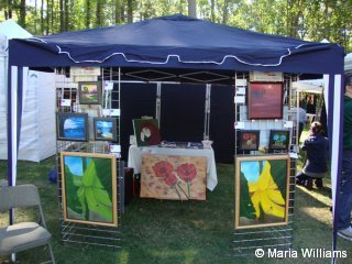 Maria Williams's booth at Art on the Common