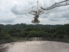 View of the radiotelescope at the Arecibo Observatory