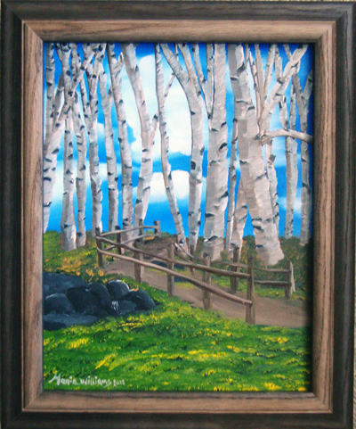 The Birch Tree Road by Maria Williams