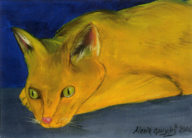 Yellow Cat by Maria Williams