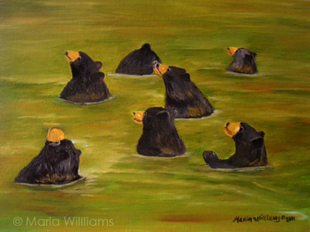 Bear Bath  by Maria Williams