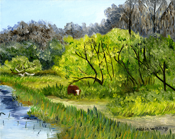 Grazing in the Marshes by Maria Williams
