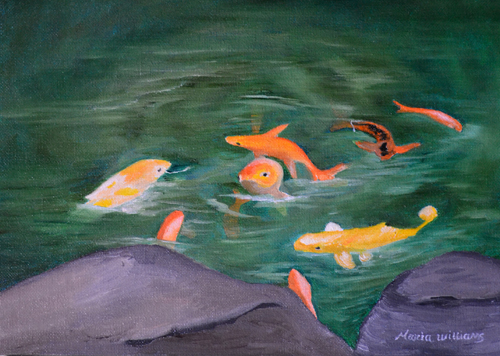 Koi Pond by Maria Williams