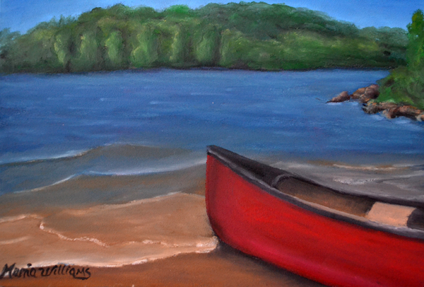 Red Canoe by Maria Williams