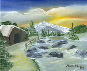 Winter by the Mountain by Maria Williams